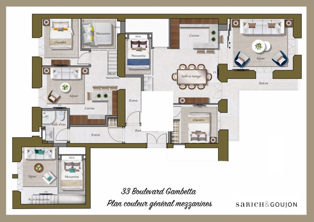 plan appartement 5 pieces